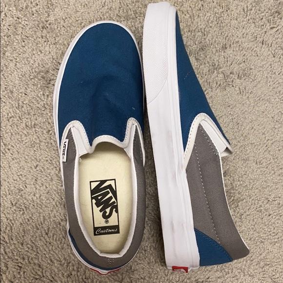Custom blue and gray vans